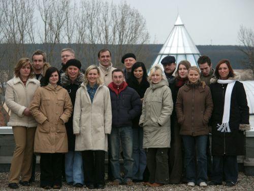 Archiwalne zdjęcie zespołu Fundacji na rzecz Collegium Polonicum
