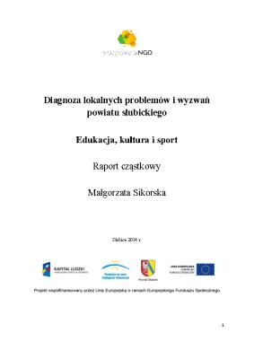 Edukacja kultura sport w Powiecie Słubickim